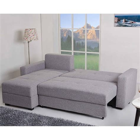 convertible sofa with storage gold sparrow aspen convertible sectional storage sofa bed