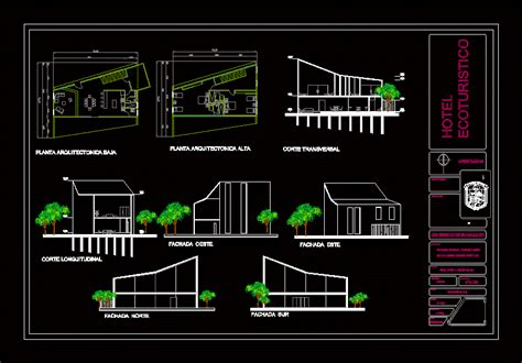 cottage    people  dwg design section  autocad