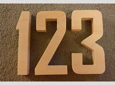 Wooden House numbers Wood Agency FB 5