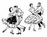 Dance Coloring Printables Square Dancing sketch template