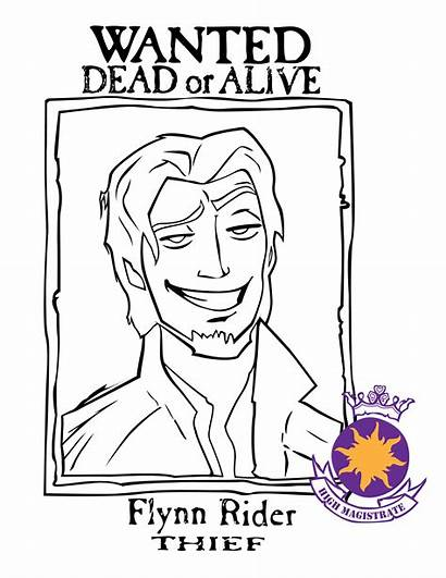 Flynn Rider Wanted Poster Tangled Coloring Printable