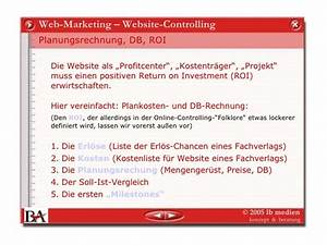 Roi Rechnung : web controlling ~ Themetempest.com Abrechnung