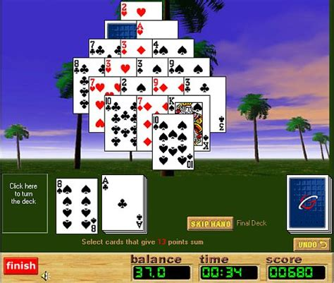 play pyramid  solitaire  pyramid solitaire