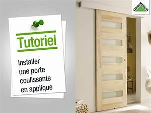 Double porte coulissante en applique le bois chez vous for Porte de garage coulissante et porte d interieur double vantaux