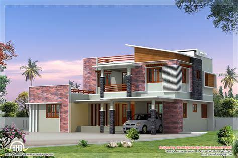 sqfeet modern  bedroom villa elevation kerala
