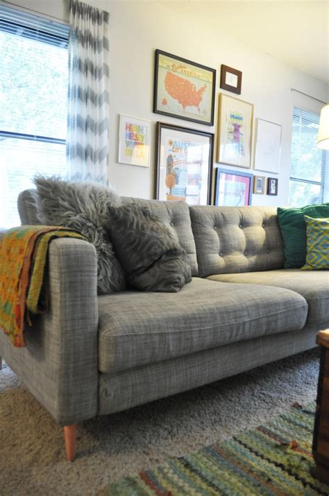 Karlstad Sofa Leg Hack by Ikea Hack From The Karlstad Sofa To Mid Century Mod With