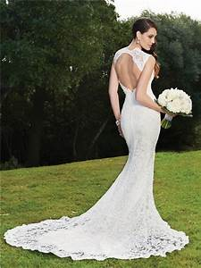 trumpet mermaid v neck backless lace wedding dress With mermaid backless wedding dress