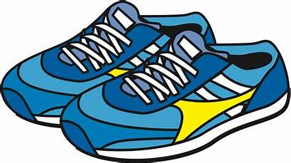 Clipart Shoes Shoe Running Sneakers Jogging Clip
