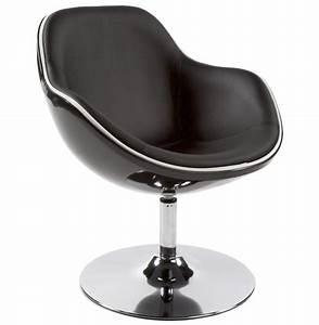 Fauteuil Pivotant Design : fauteuil design kok pivotant noir fauteuil style retro ~ Teatrodelosmanantiales.com Idées de Décoration