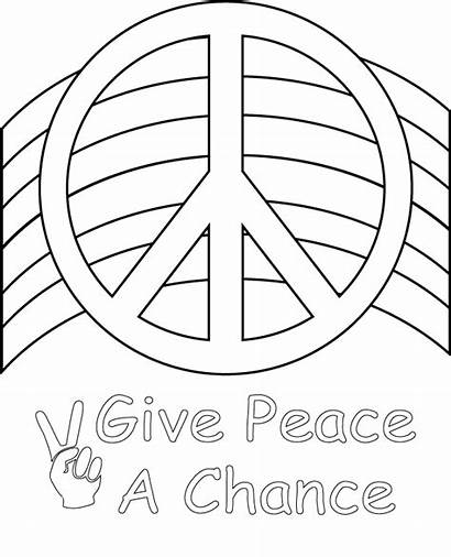 Peace Coloring Sign Pages Cool