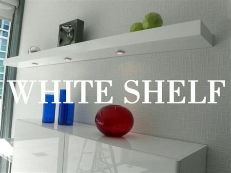 buy hand  floating wall shelves   white high