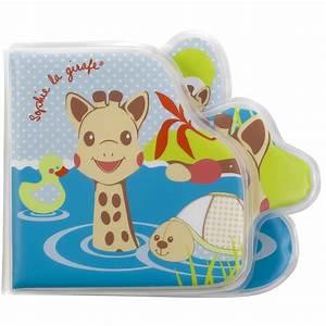 Livre éveil Bébé : jouet de bain b b livre de bain sophie la girafe de vulli sur allob b ~ Teatrodelosmanantiales.com Idées de Décoration