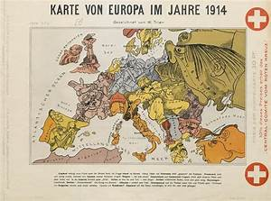 Cartoon Map of Europe in 1914 – The Public Domain Review