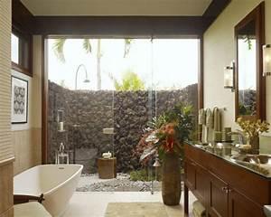 modele salle de bain moderne quelques idees fascinantes With salle de bain design avec décoration tropicale