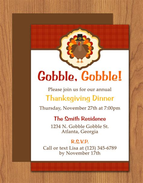 thanksgiving turkey invitation editable template microsoft