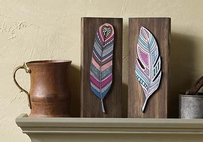 feather art inspired  coloring book  adults project