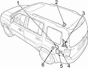 Honda Pilot  2009 - 2015  - Fuse Box Diagram