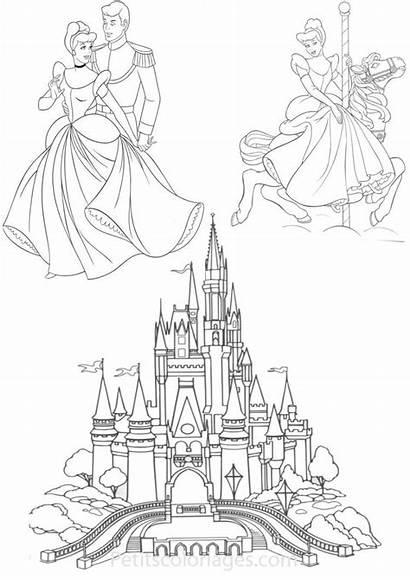 Chateau Coloriage Cendrillon Dessin Princesse Disney Coloriages