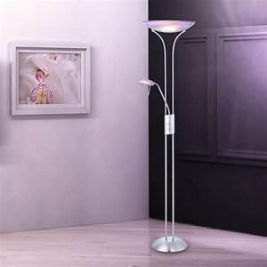 Stehlampe Für Wohnzimmer : wohnzimmer standlampe lila stehleuchte standlicht stehlampe standleuchte lampe ebay ~ Frokenaadalensverden.com Haus und Dekorationen