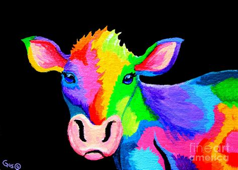 colorful cow painting colorful cow cow a bunga painting by nick gustafson