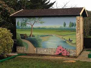Peinture Pour Mur Extérieur : fresques murales d cor peint sur fa ade peinture murale ~ Dailycaller-alerts.com Idées de Décoration