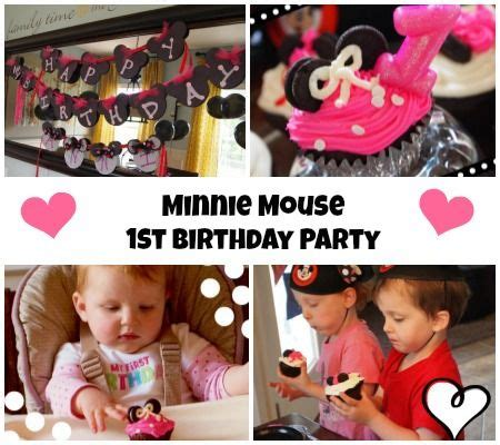 Baby Minnie Mouse First Birthday Party