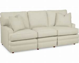 Simple choices inclining sofa living room furniture for Small sectional sofa thomasville
