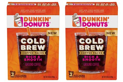 Dunkin' donuts is a fast food restaurant that serves mainly donuts and coffee. Dunkin' Donuts Cold Brew Coffee Packs 2 Boxes | Food