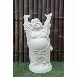 Statue Bouddha Maison Du Monde : statue bouddha rieur debout 100 cm blanc ~ Teatrodelosmanantiales.com Idées de Décoration