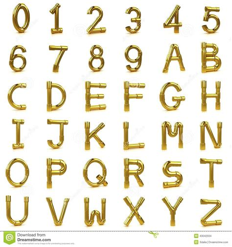 gold alphabet 3d letters stock photography image 29339742 3d gold tubing letters and numbers stock illustration 75864