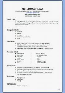 Resume Format  Resume Format Download For Editing