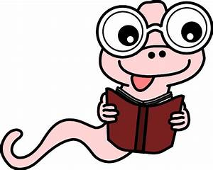 Book Worm Clipart Black And White | Clipart Panda - Free ...