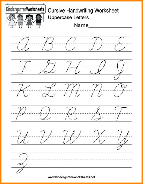 9 Cursive Writing Worksheet Arseloquentiae