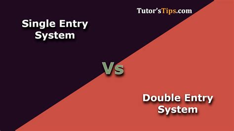 difference  single entry  double entry