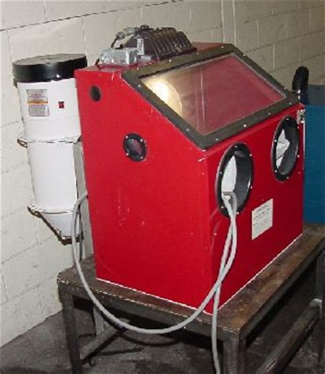 Central Pneumatic Blast Cabinet 42202 by Blast Cleaning Machines For Sale Used Blast Cleaning