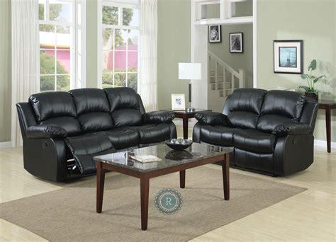 cranley black reclining living room set  homelegance