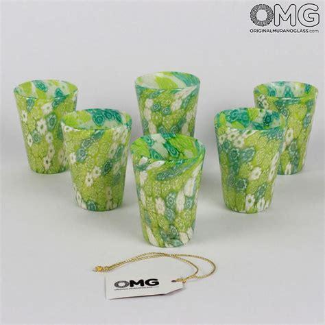 bicchieri per amari set di 6 bicchieri verdi goto da liquore limoncello