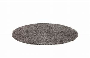 Tapis rond poils longs 200x200cm piece a vivre for Tapis de salon rond