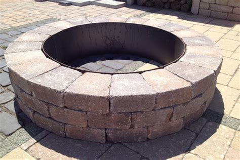 Unilock Round Fire Pit From Rock Bottom Stone Supply