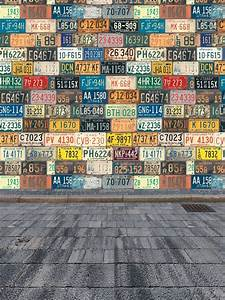 Children Photography Background License Plate Wall Brick