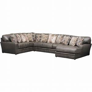 denali 3 piece italian leather sectional with raf chaise With gavin leather chaise sectional sofa 3 piece