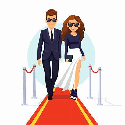 Clipart Celebrity Celebrities Carpet Rich Vector Figures