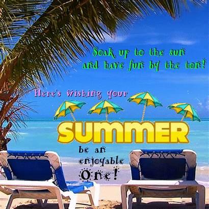 Fun Summer Beaches Cards Wishes Card