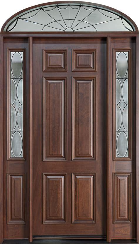 wood entry door front door custom single with 2 sidelites w transom