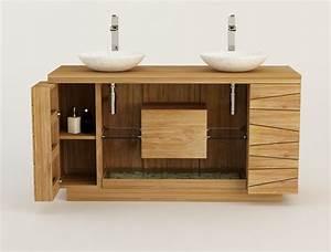 Meuble Salle De Bain 150 Cm : emejing ensemble salle de bain teck contemporary design ~ Dailycaller-alerts.com Idées de Décoration