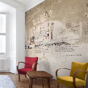 Tapete In Betonoptik : tapete betonoptik alte betonwand mit bertolt brecht versen vliestapete quadrat ~ Orissabook.com Haus und Dekorationen
