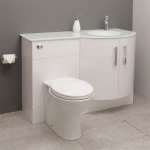 Bow Front Bathroom Vanity by Vigo Right Hand Bow Front Combination Unit With White Basin