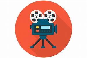 Video camera flat icon ~ Icons ~ Creative Market