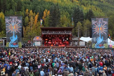 telluride blues and brews festival town of mountain