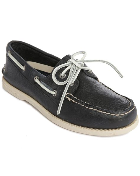 Boat Shoes Navy by Sperry Top Sider Ao 2 Navy Grained Leather Boat Shoes